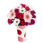 White, Pink and Red Bouquet